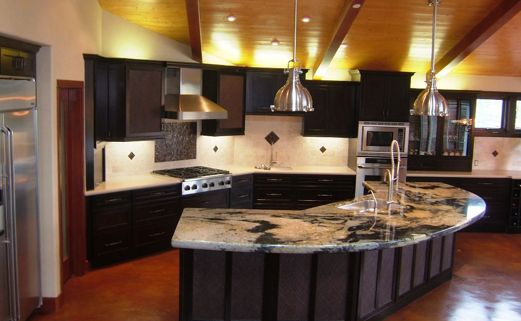 Custom granite works gallery for Kitchen cabinets and countertops ideas